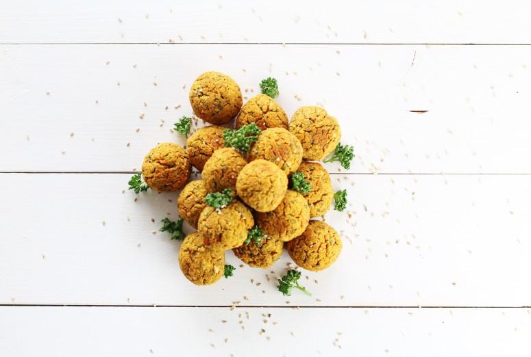 Süßkartoffel Falafeln vegan
