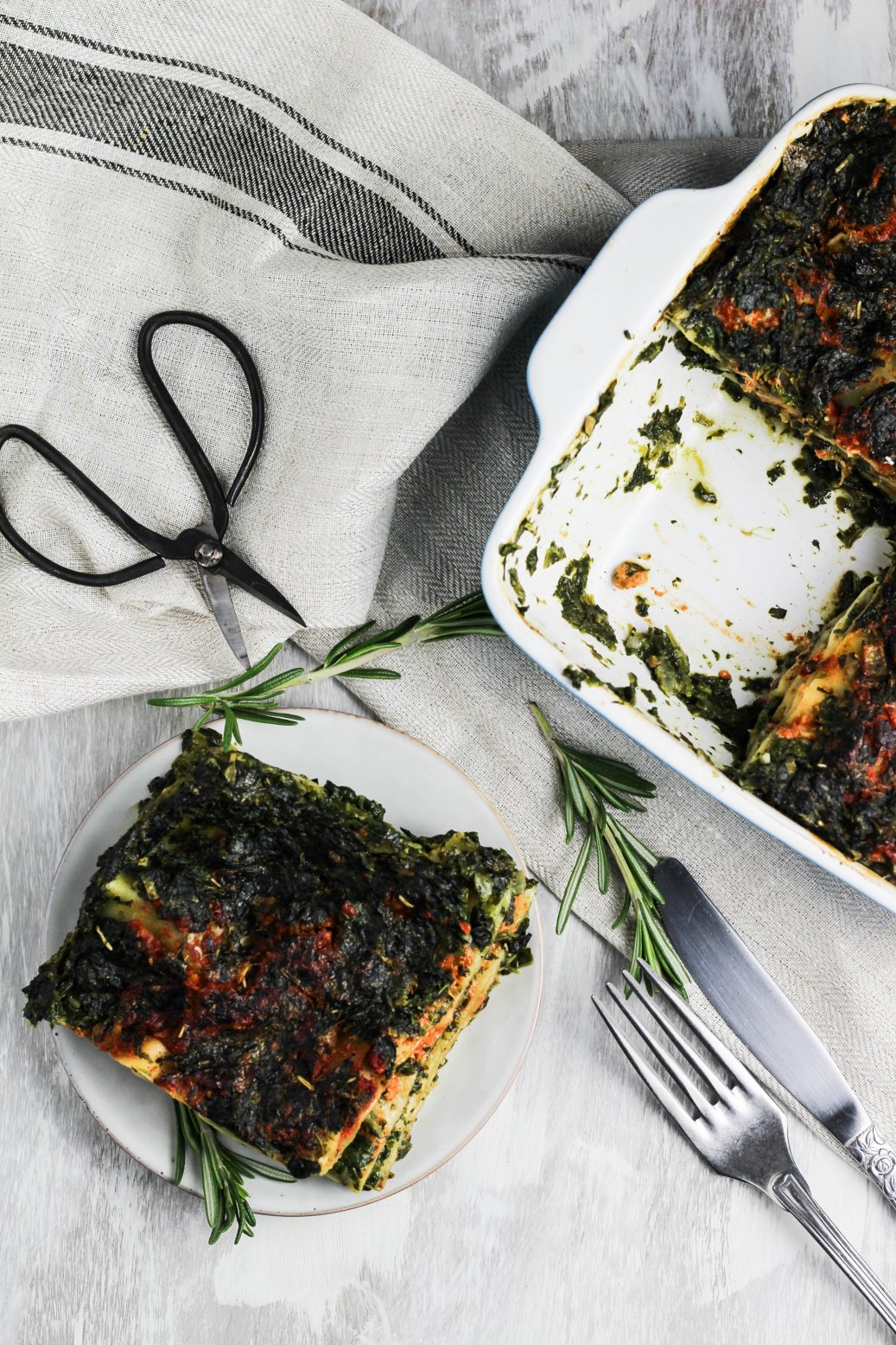 THE BEST VEGAN SPINACH LASAGNA