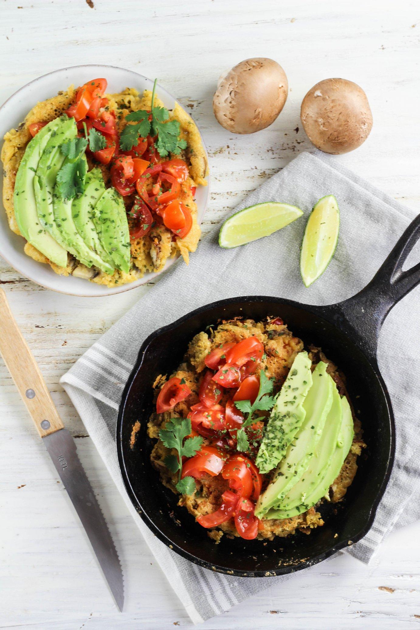 veganes omelette aus Kichererbsenmehl by somegreenlife