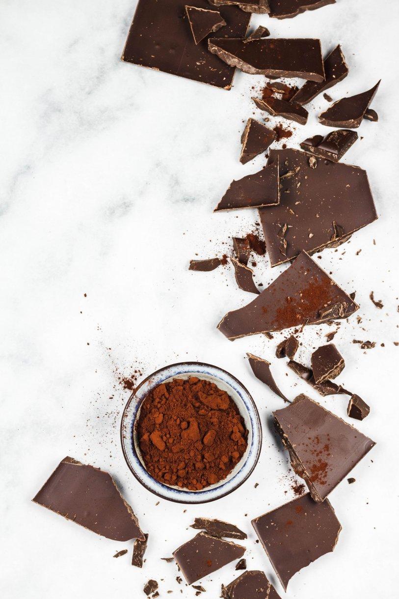 zuckerfreie vegane Schokolade