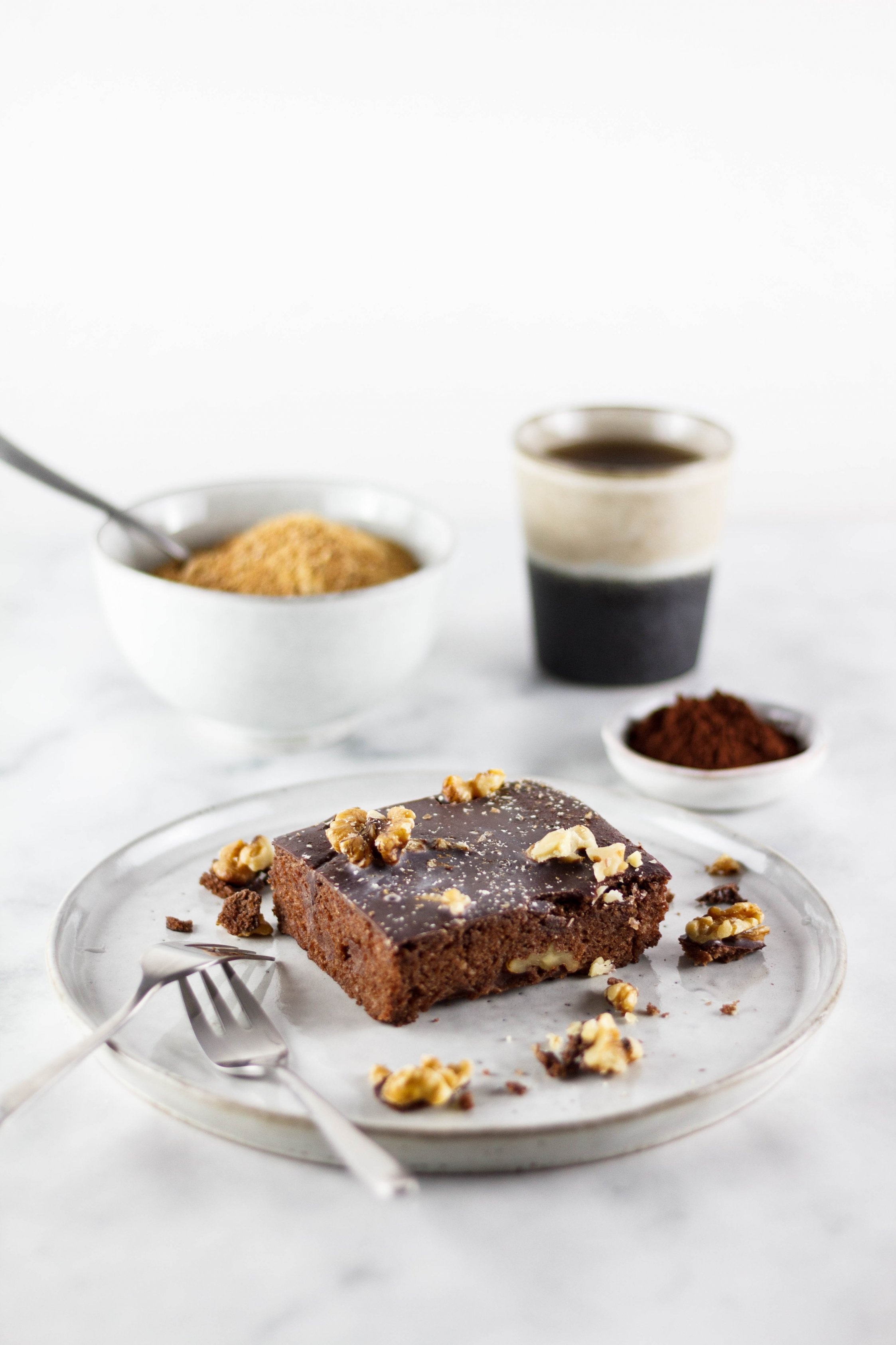 zuckerfrei vegane Brownies