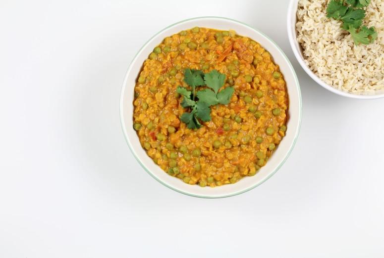 Curry Erbsen