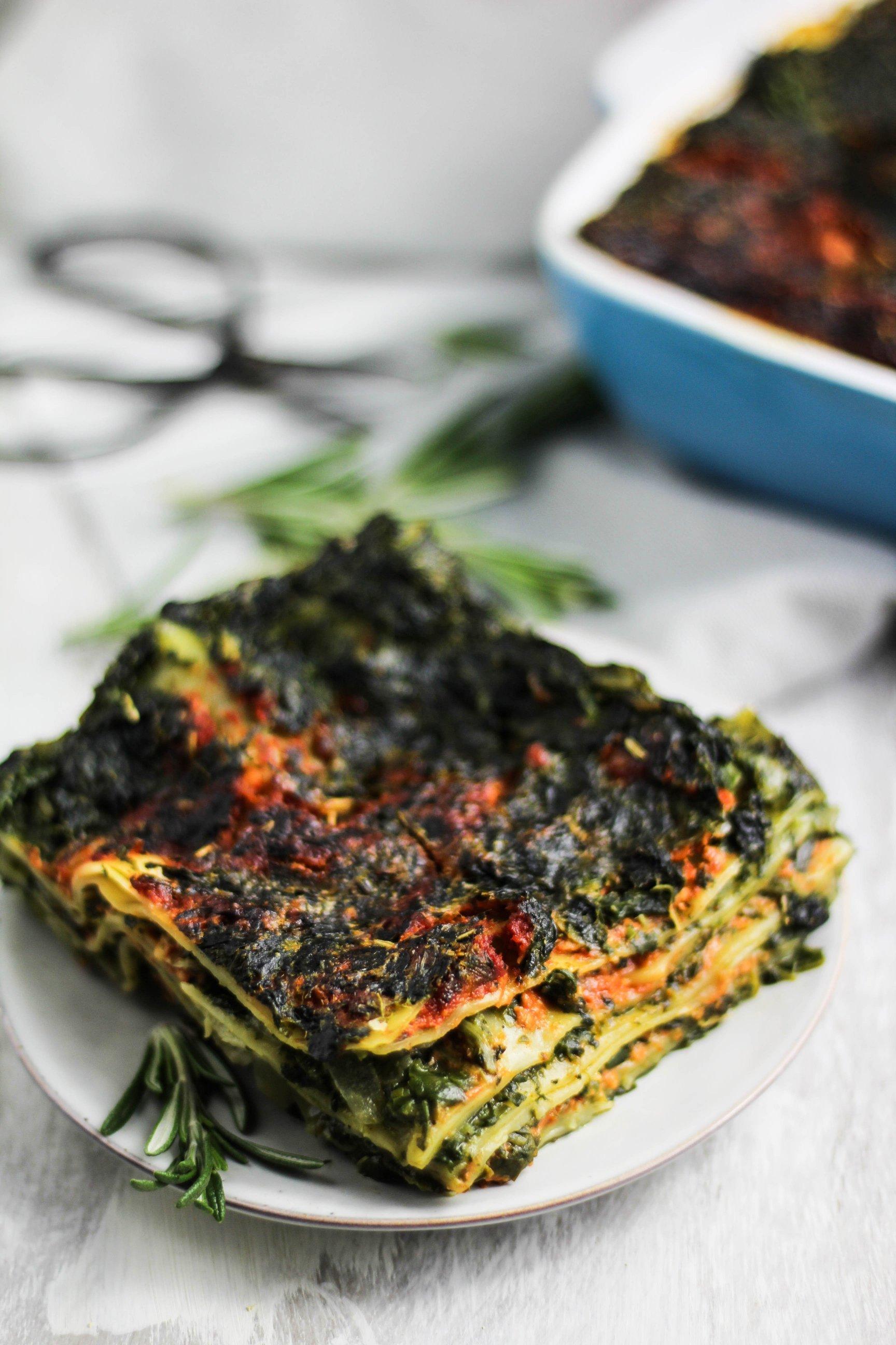 THE BEST VEGAN SPINACH LASAGNA (easy recipe)