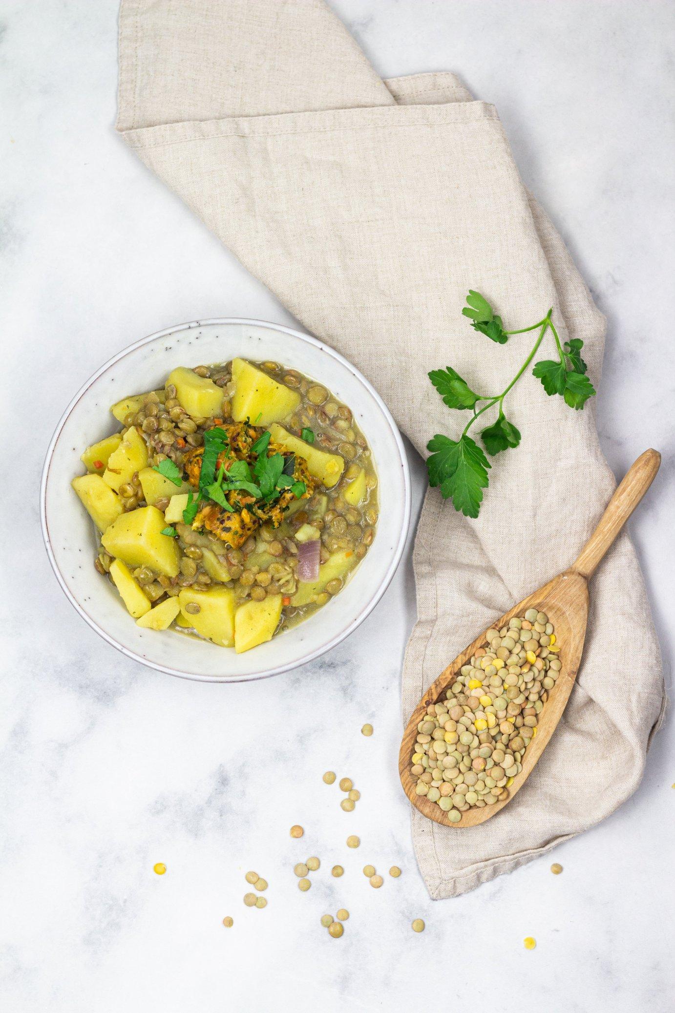 vegane Linsen Kartoffelsuppe Rezept