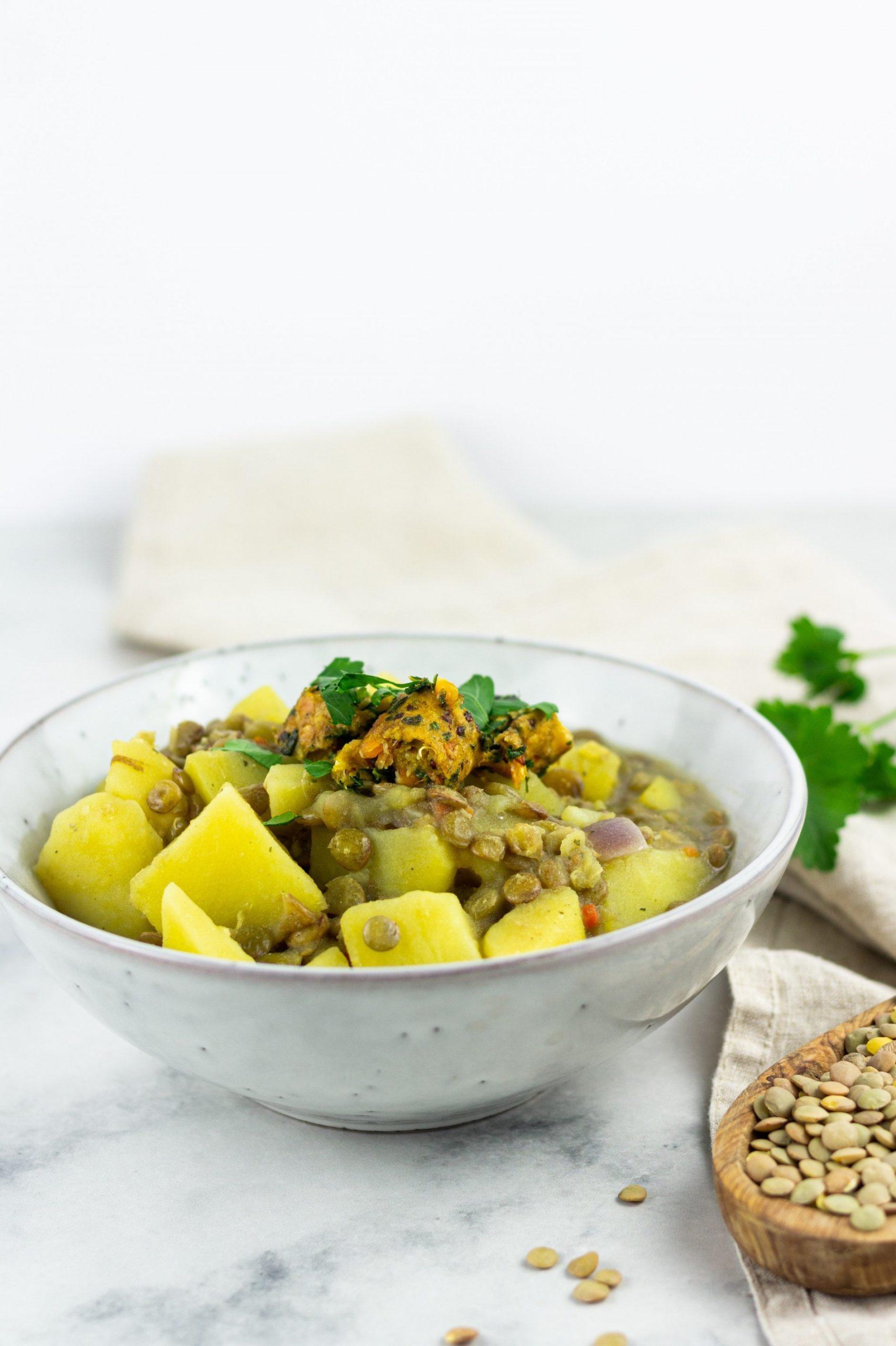 vegane Linsen Kartoffelsuppe