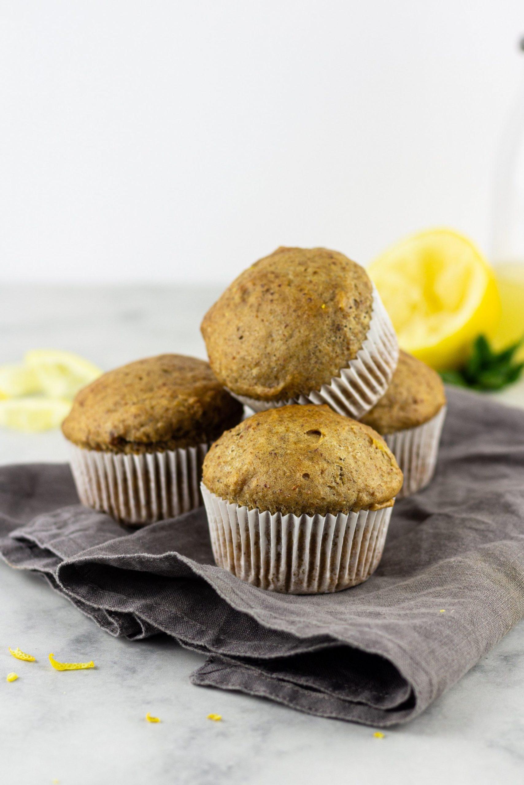 Rezept vegane Zitronenmuffins